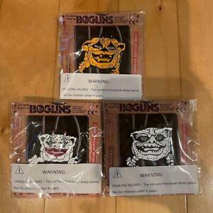 TriAction Boglins Halloween Enamel Pin Lot of 3 Bog O' Bones Blobkin Crazy Clown