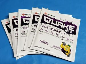 Scivation Quake 10.0 The Ultimate Pre-Workout Lemon Drop 50 Scoops in 25 packs
