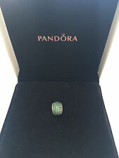 Pandora Sterling Silver Green Pave Ball Charm S925 ALE 791051CZN
