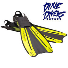 Ocean Pro Mako Yellow Fins Size Xs Open Heel Snorkeling or Scuba Diving Fin