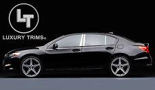 Acura RLX Stainless Steel Chrome Pillar Posts by Luxury Trims 2014-2017 (6pcs)