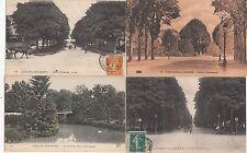 Lot 4 cartes postales anciennes CHÂLONS-SUR-MARNE cours d'ormesson