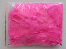 """10g (0.35Oz) Hot Pink 3~4"""" Turkey Plumage Feathers for crafting, 80~120counts"""