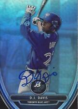 D.J. Davis Toronto Blue Jays 2013 Bowman Platinum Signed Card