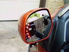 Goldwing GL1800 Muth Mirrors Amber LED's 2006-2012 Chrome Clear Glass (M1882A)