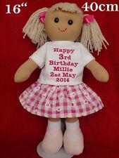 Bambola di pezza Lisa Personalizzato Set comprende due abiti 28 cm ragdoll Regalo Ragazze