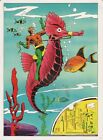 Vintage 1978 AQUAMAN Pin up Poster DC Comics