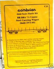 Cambrian C23 - BR BBA 75.5t Steel Carrier Wagon Kit                (00)