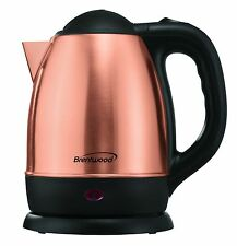 1.2 Liter Stainless Steel Electric Cordless Water/Tea Kettle Brand New Gold Rose