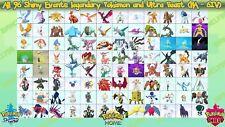All 96 Legit Shiny Events Legendary Pokémon/Ultra Beast for Sword Shield Home