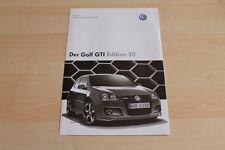 84726) VW Golf V GTI Edition 30 - Preise & Extras - Prospekt 11/2006
