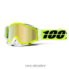 100% RACECRAFT ESPEJO Motocross MX Cruz Gafas Solar MTB Amarillo