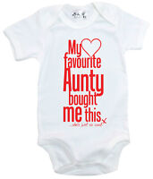 "Dirty Fingers ""My Favourite Aunty Bought me This She's so Cool"" Bodysuit Baby"