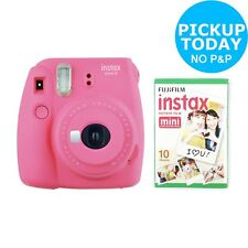 Fujifilm instax Mini 9 Instant Camera with 10 shots Built in Flash Flamingo Pink