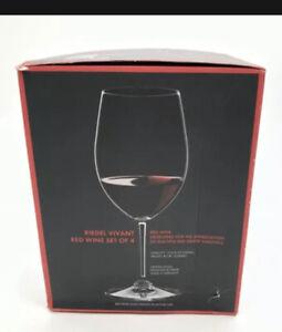 RIEDEL Vivant 19.3/8 Oz Red Wine Glasses - Pack of 4 New In Box