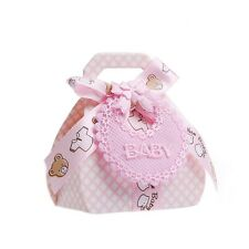 12Pcs Candy Boxes with Ribbon for Baby Shower Christening Party Favor Gift DIY
