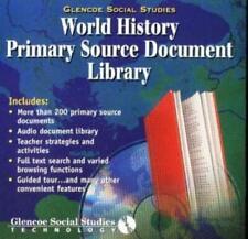 Glencoe World History Primary Document Library PC MAC CD teacher teaching tools