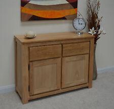Stratton Oak Large Two Door Sideboard / Storage Unit / Solid Wood / Modern / New