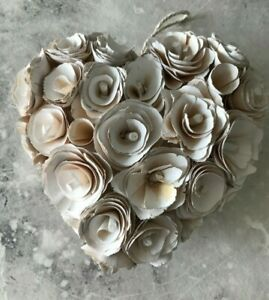 Decorative Heart Crafted Composed of Wood Shavings Hanging Rustic UNUSED JC864