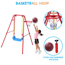 Toddler Swing Playset | 2 in 1 Swing Basketball Combination Swing Toys Set