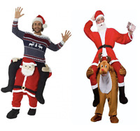 Ride On Santa Rudolph Costume Christmas Fancy Dress Piggy Back Santa Costume