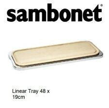More details for a new sambonet linear stainless steel tray with wood chopping board restaurants