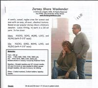 "Jersey Shore Weekender Sweater Knitting Instruction Pattern KNOON Adults 30""-52"""