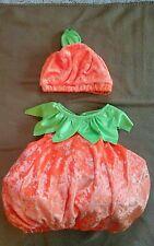 Toddler Child Second Step Infant Orange Pumpkin Halloween Costume