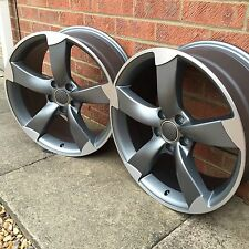 "17"" TTRS ROTOR STYLE ALLOY WHEELS VW/AUDI/SEAT/SKODA 5X112 BRAND NEW SET OF 4"