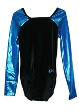 Gk Elite Black Velvet/Mystique Gymnastics Leotard - Axs Adult Extra Small 3998