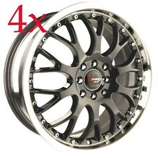 Drag Wheels DR-19 16x7 5x100 5x114 Gunmetal Rims For LS400 430 RX400 430 Starion