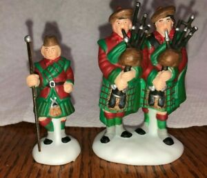 Dept 56 RARE Two piece set of SCOTTISH BAGPIPE Band. RETIRED