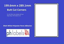 Matt White Polyester Labels 1 to view 200 x 288mm ( 100 Sheets )