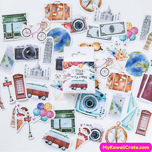 Traveling Journey Decorative Stickers Set ~ Travel Stickers, Fun Stickers Pack