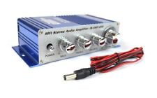 2 Channel Stereo PA Mini Amplifier 4 to 16 Ohm 20 Watt 3.5 Aux Input USB