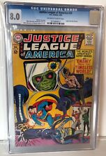 JUSTICE LEAGUE OF AMERICA #33 - CGC 8.0 - OW/W  PAGES