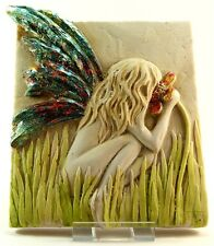 Garry White Wall Plaque - Grass Fairy - Signed
