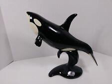 ultra rare SeaWorld thank you for your service award killer Orca whale statue