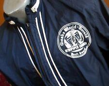 SMALL True Vtg 80's PAPER THIN BLUE HOODY OMAHA NEWSPAPER BOY WINDBREAKER Jacket