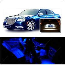 For Chrysler 300 2011-2017 Blue LED Interior Kit + Xenon White License Light LED