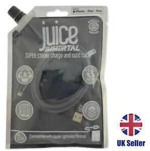 IMMORTAL STRONG ARMOURED Lightning to USB 1m or 2m JUICE cable