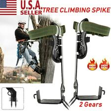 2 Gears Tree Climbing Spike Set Safety Belt Adjustable Rope Lanyard Rescue Belt