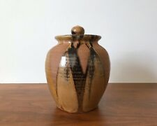 Leon Roloff Handmade Studio Pottery Lidded Canister - San Diego Allied Craftsmen