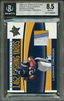 2006 leaf r & s statistical standouts materials prime #21 TOMLINSON /21 BGS 8.5
