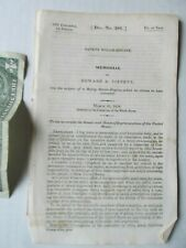 RARE 1838 Congressional Record Report, Tippett SAFETY STEAM ENGINE, Baltimore