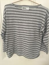 Margaret Howell MHL Grey Striped T Shirt Size XS