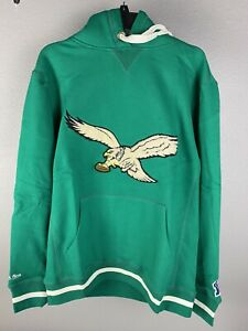 Mitchell & Ness Mens Philadelphia Eagles Heavyweight Hooded Sweatshirt Size L