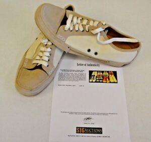 COLE HAAN Cream Beige Suede sz 14 DWAYNE WADE Personal Owned Dress Shoes COA #18