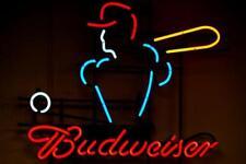 """New Budweiser Baseball Beer Neon Sign 24""""x20"""""""