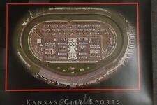 Kansas City Speedway Poster Nascar Track Sports Premium Aerial Poster 27.50 X22